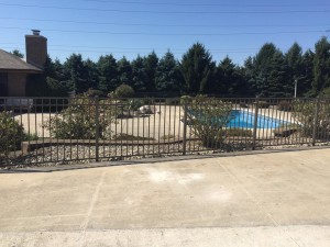 We recently installed this nice pool fence for a Mequon home owner.