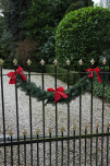 garland on fence